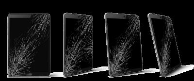 pantalla de tablet rota