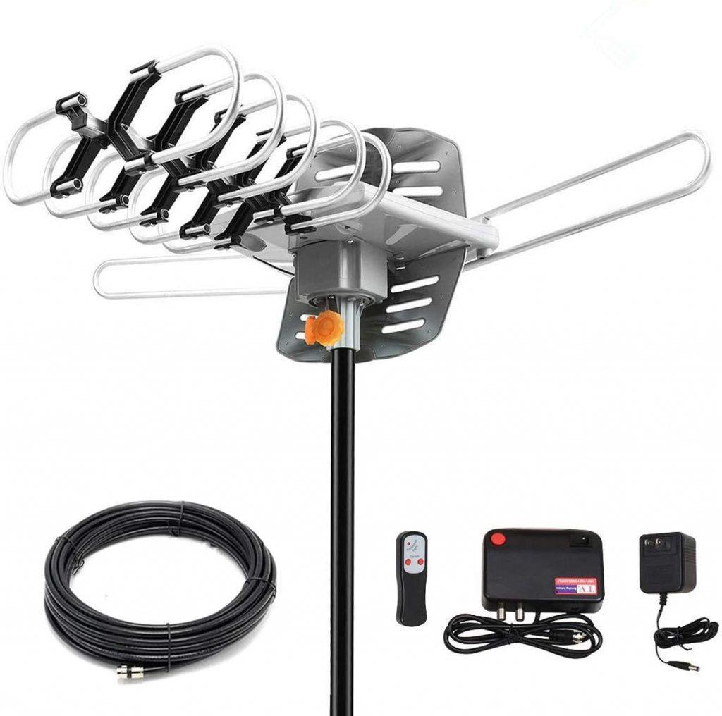 antena parabólica y piezas