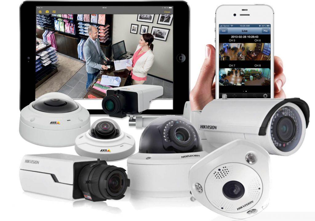 cámaras de videovigilancia, móvil y tablet